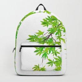 fresh green spring maple leaf Backpack