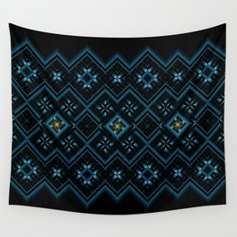 psychedelic upgrade ancient nordic embroidery Wall Tapestry