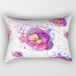 Splashing Purple Flower Rectangular Pillow