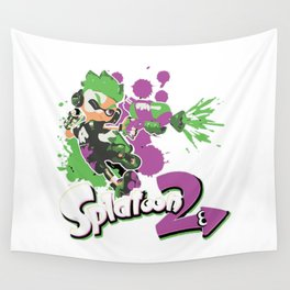 Splatoon 2 Purple - Inkling Boy Wall Tapestry