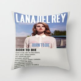 Lana Del#Rey Canvas, Lana Del#Rey Personalized, Born To Die Albums Throw Pillow