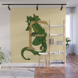 Oscar the Dragon Letter F Sans Roses Wall Mural