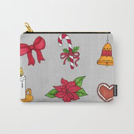 Christmas pattern (#2 grey) Carry-All Pouch