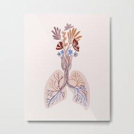 Breathe and Bloom Metal Print