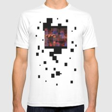 Fire  White Mens Fitted Tee MEDIUM