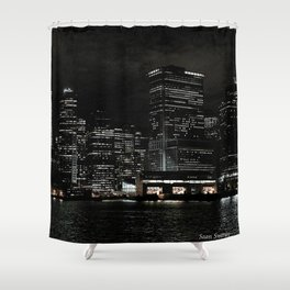 NYC Night Skyline 2015 Shower Curtain