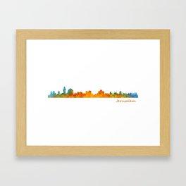 Jerusalem City Skyline Hq v1 Framed Art Print