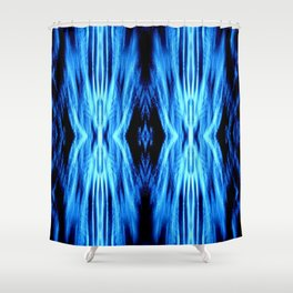 Electric Blue Abstract Shower Curtain
