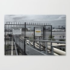 The Open Security Gate Canvas Print