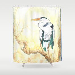 The Heron Shower Curtain