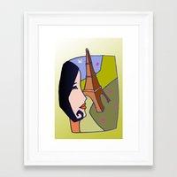 france Framed Art Prints featuring France by Karl-Heinz Lüpke