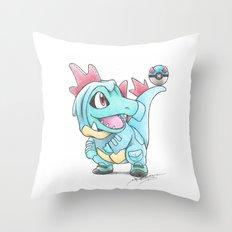 Caught in a DILEma Throw Pillow