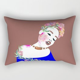 Flowered woman Rectangular Pillow