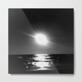 Oceanic dawn 1: black and white Metal Print
