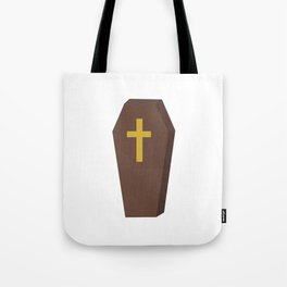 Halloween coffin with cross Tote Bag