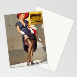 Retro Pin-Up Girl Stationery Cards
