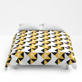 A simple geometric pattern . Triangles . 3 Comforters