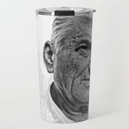 Architect double exposure Travel Mug