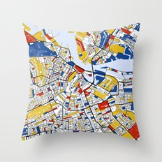 Amsterdam Mondrian Throw Pillow