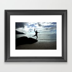 Open your mind, freedom's a state Framed Art Print