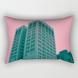 Detroit in Pink & Blue Rectangular Pillow