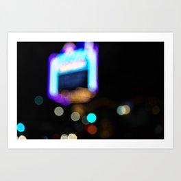 Lights by Night Art Print