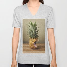 Pineapple is hungry Unisex V-Neck