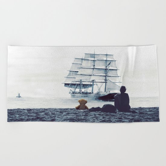 Boy with Teddy Beach Towel