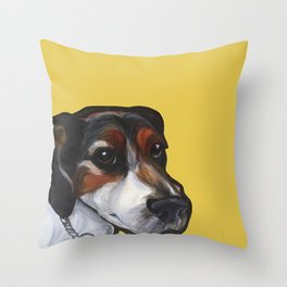 Milo the Jack Russell Terrier Throw Pillow