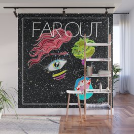 """Far Out Woman"" Wall Mural"