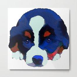 Colorful Puppy Art Metal Print