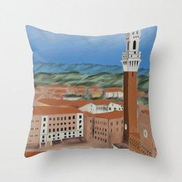 Siena Piazza Del Campo Throw Pillow