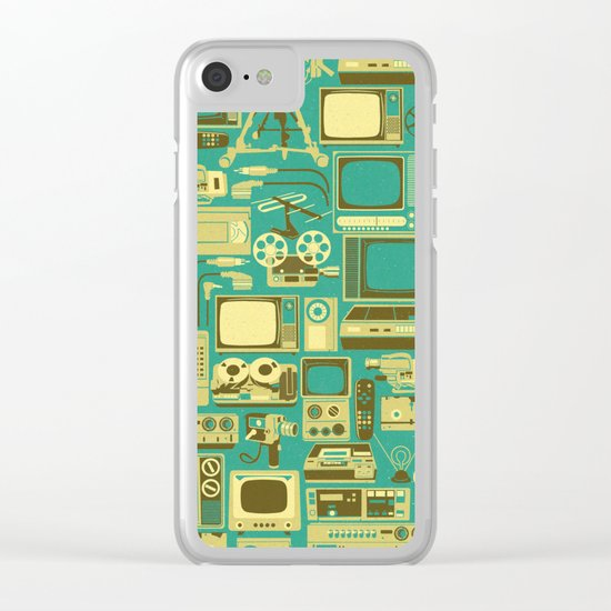 Retro technology Clear iPhone Case