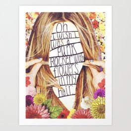 punk rocker Art Print