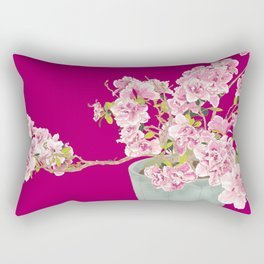 Heavenly Blossom on Pink Rectangular Pillow