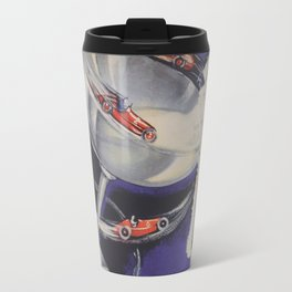 Auto Racing Vintage Poster Travel Mug