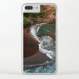 Maui in Red Clear iPhone Case