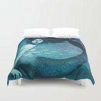 mermaid Duvet Covers featuring Mermaid by Christian Schloe