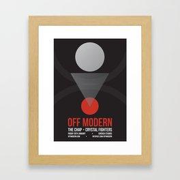 OM01: Off Modern Framed Art Print
