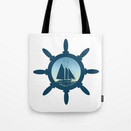 Sailing scene Tote Bag