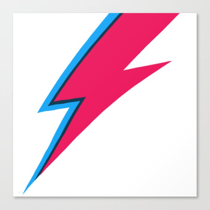 Bowie Lightning Bolt Face Paint Canvas Print