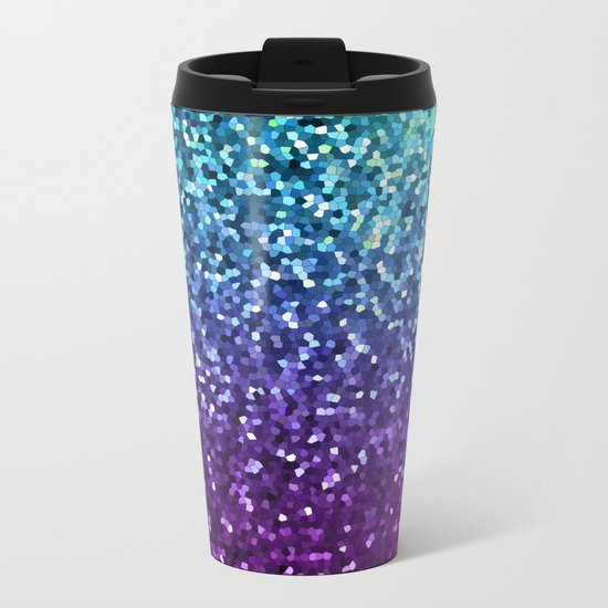 Mosaic Sparkley Texture G198 Metal Travel Mug