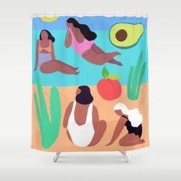 Fruity Beach Shower Curtain