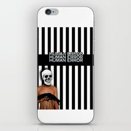 Human Error Skull Holding Fish Covered in Oil iPhone Skin