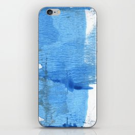 Corn flower blue hand-drawn wash drawing paper iPhone Skin