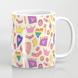 Princess pattern - collaboration with my daughter Coffee Mug