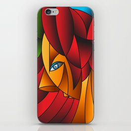 The Queen Cubism Art iPhone Skin