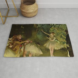 Ballet Rehearsal By Edgar Degas | Reproduction | Famous French Painter Rug