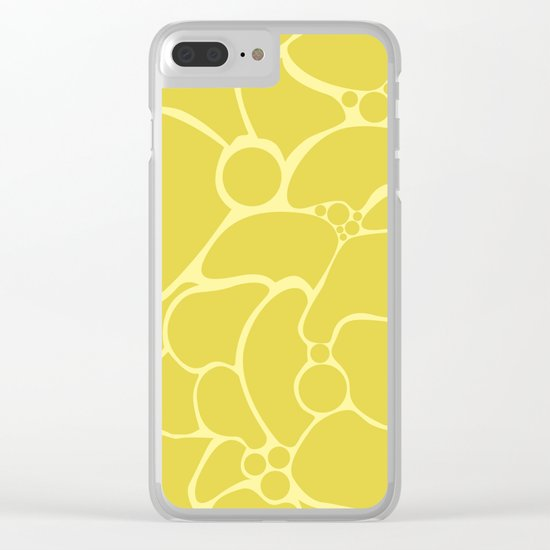 Yellow creative abstract pattern . Clear iPhone Case