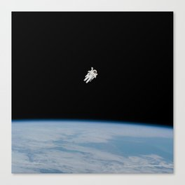 Incredible NASA Astronaut In Space Canvas Print